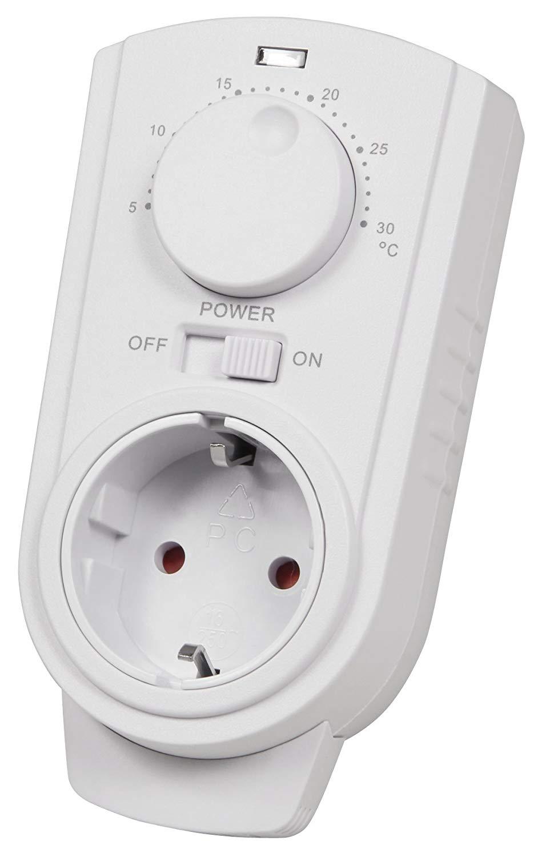 Plug-in thermostaat met draaiknop