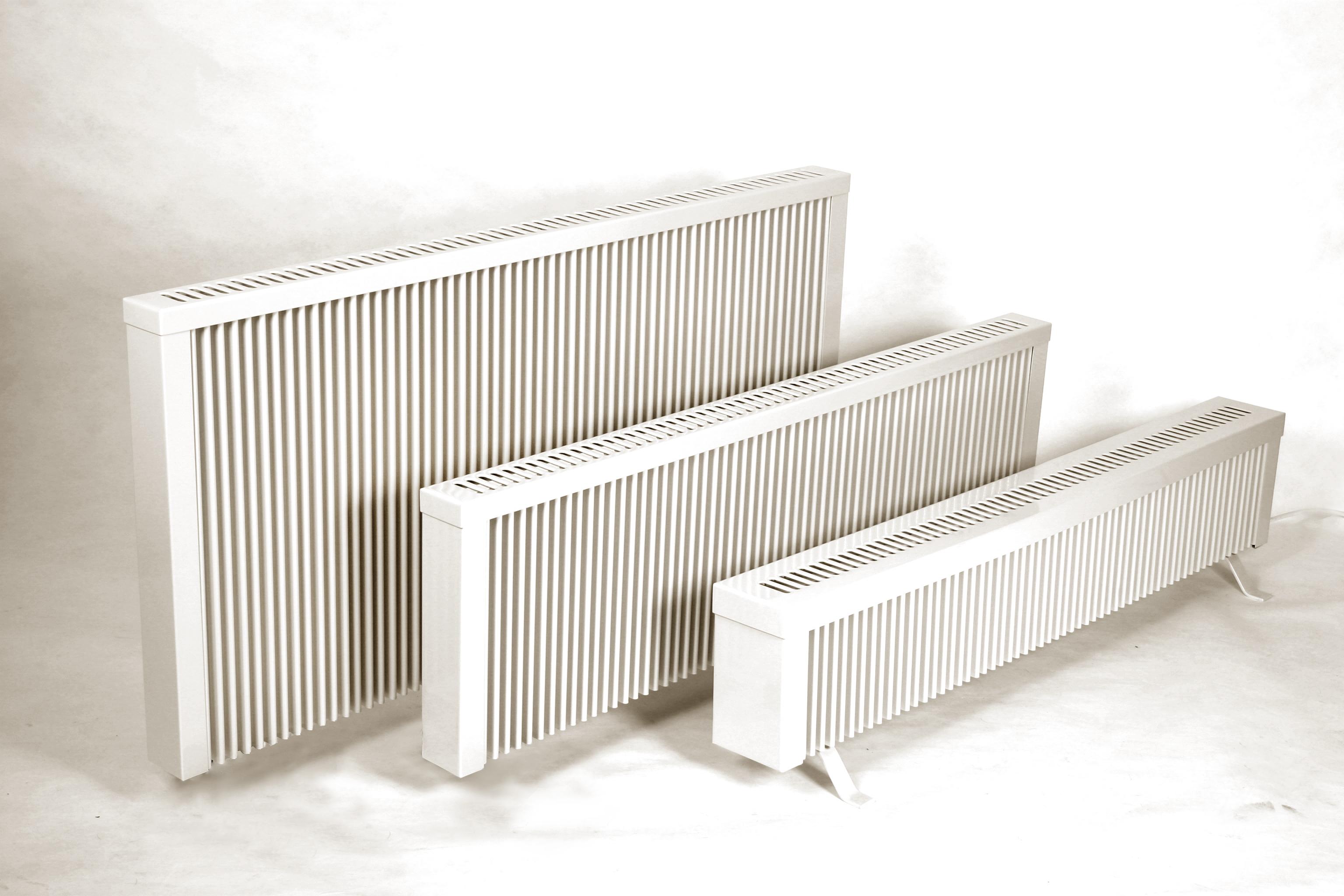 radiators op voeten en zonder wieltjes